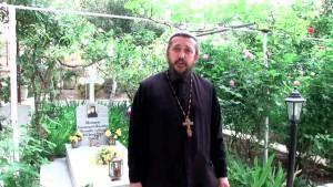 Христианская православная проповедь в монастыре Онуфрия Великого. Святая Земля.